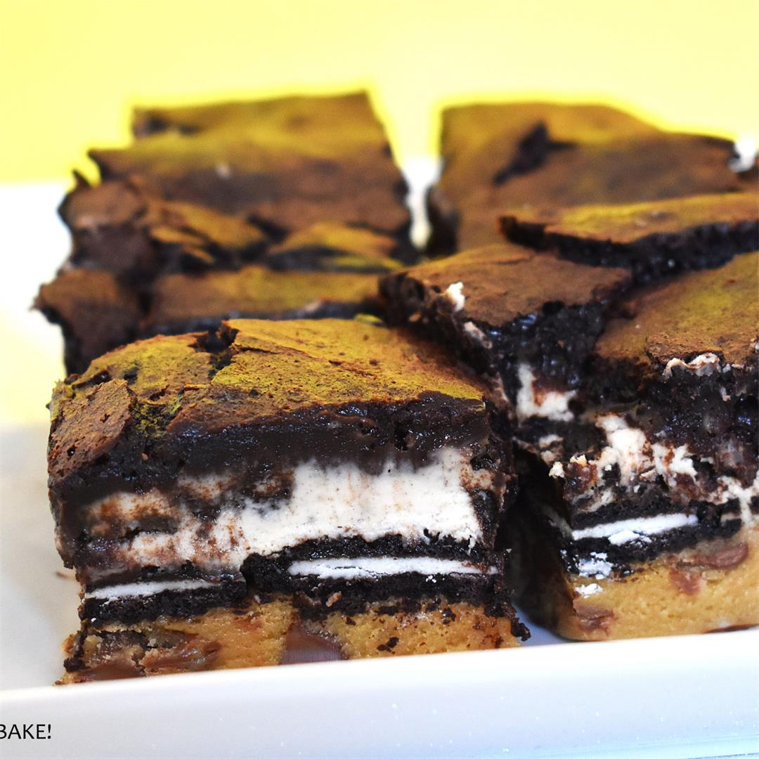 Slutty Cheesecake Brownies