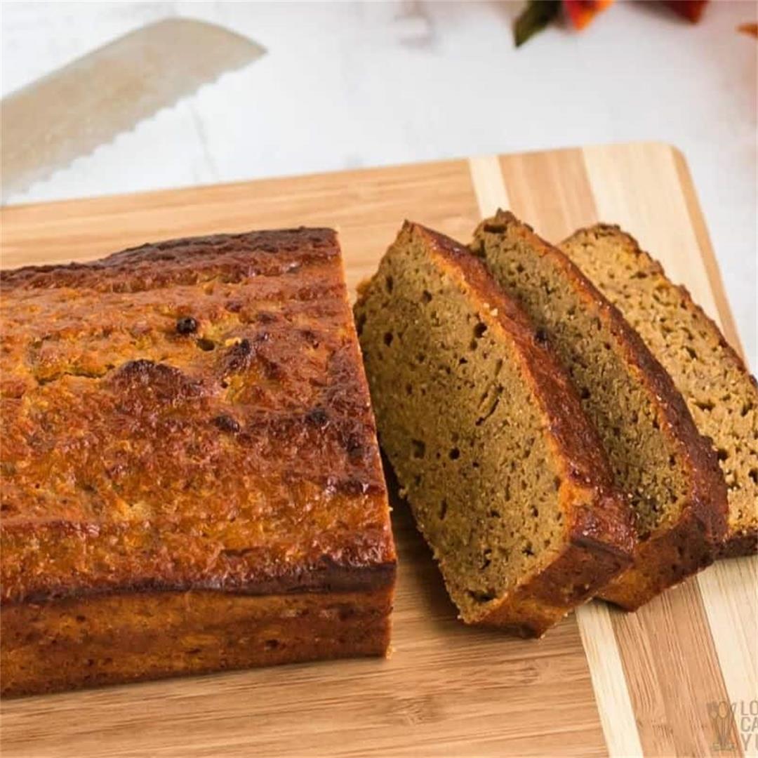 Keto Coconut Flour Pumpkin Bread (Gluten Free)