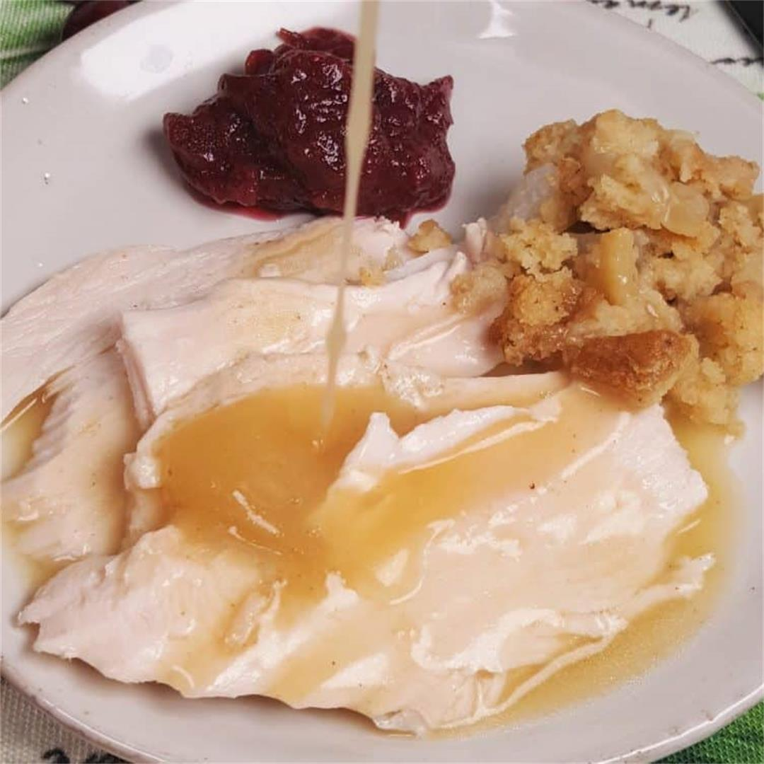 Instant Pot Turkey Breast w/delicious homemade gravy