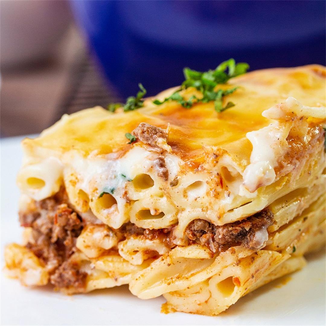 Macaroni Bechamel (Baked pasta)-Healthy life Trainer