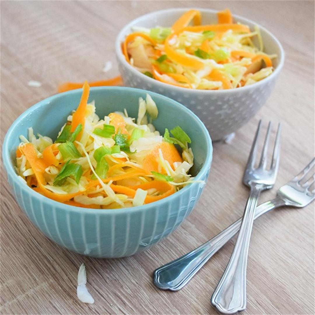 Cabbage Carrot Slaw Salad