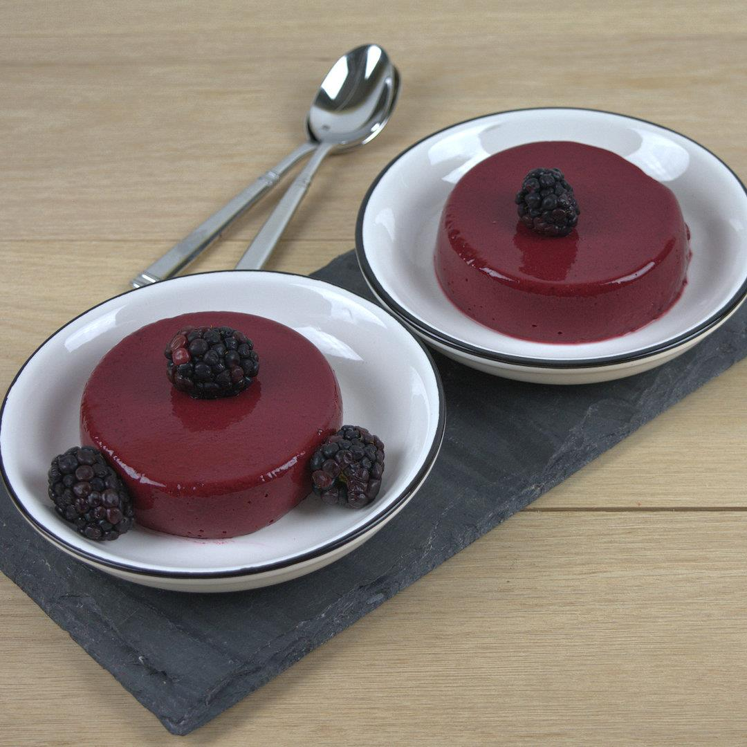 Blackberry Yogurt Panna Cotta – A Gourmet Food Blog