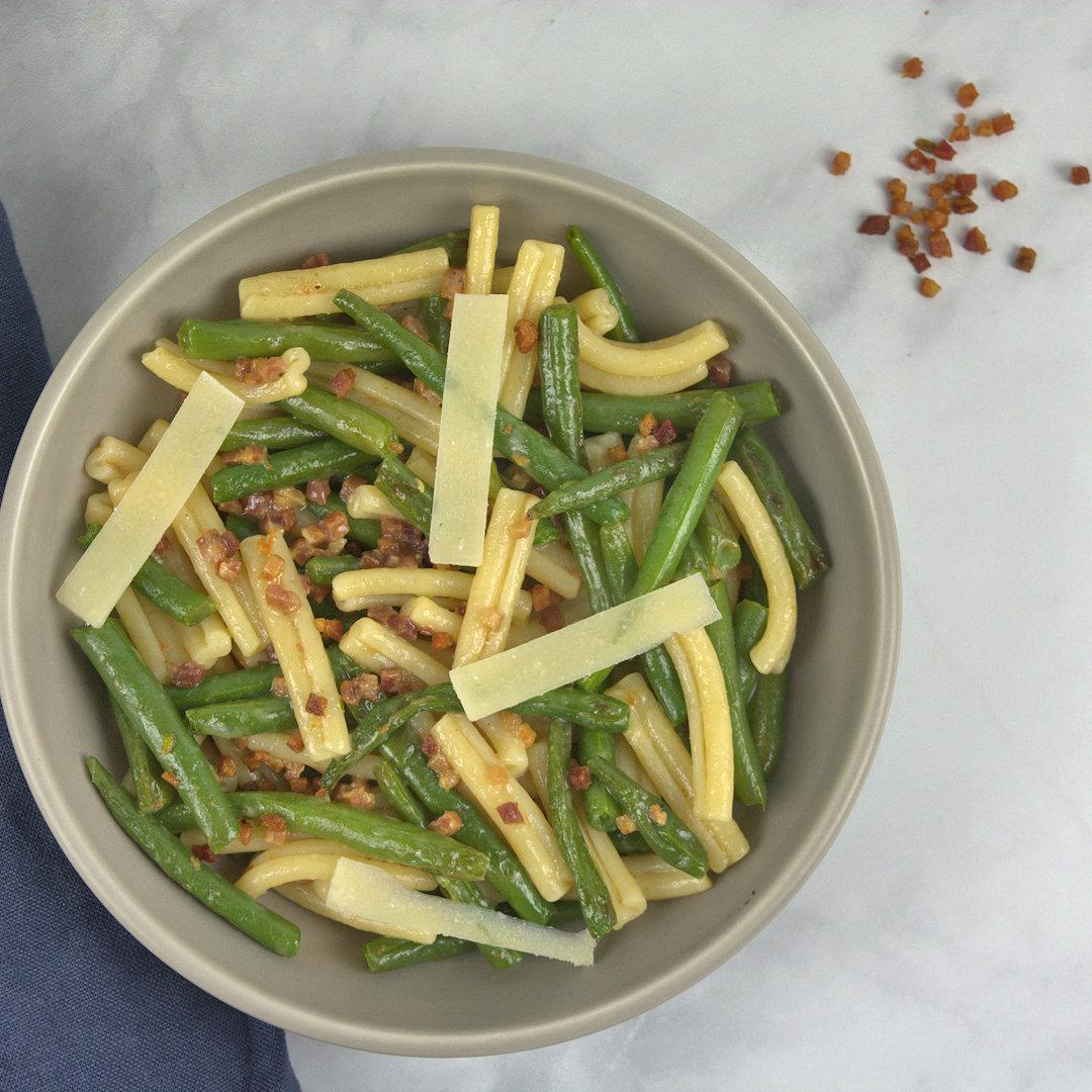 Green Beans and Pancetta Pasta – A Gourmet Food Blog