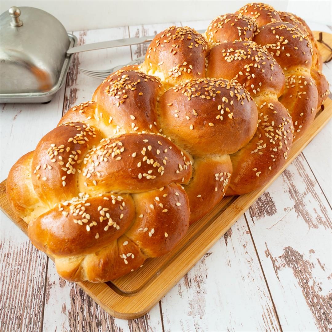 Six-stand braided bread