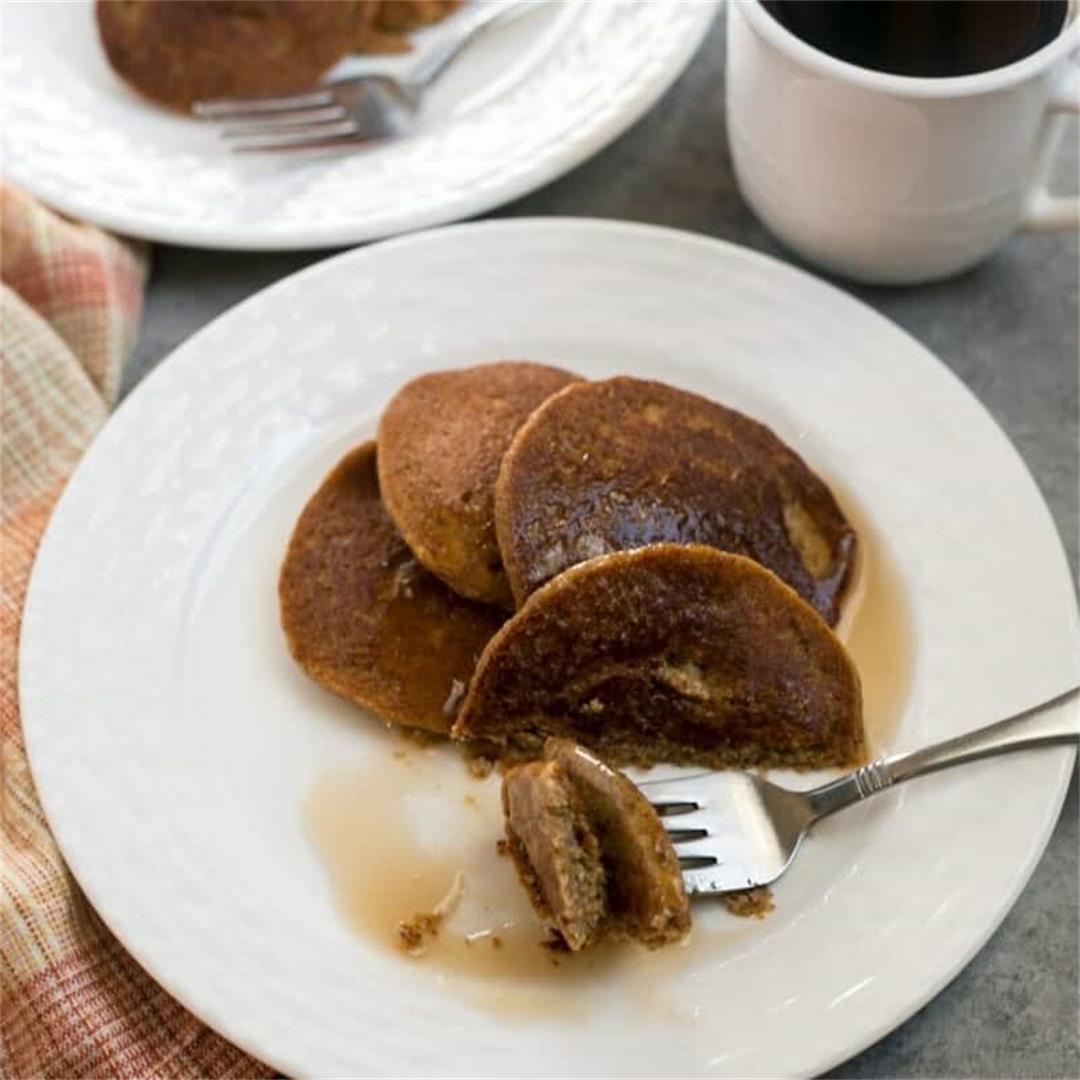 Almond Flour Low-Carb Keto Pumpkin Pancakes
