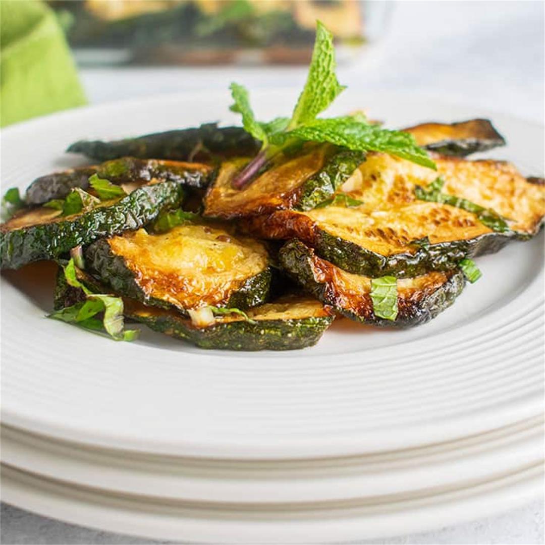 Marinated Zucchini with Mint (Zucchine alla Menta)