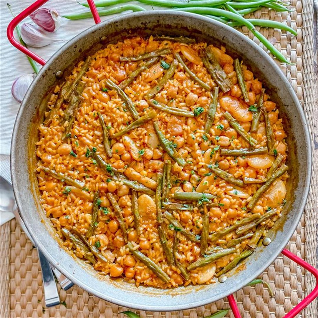 How to Make a Delicious 3-Bean Spanish Vegan Paella