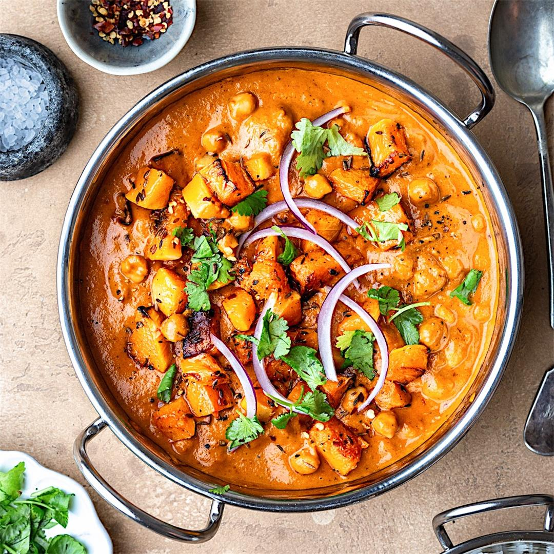 Roasted Butternut Squash and Chickpea Curry