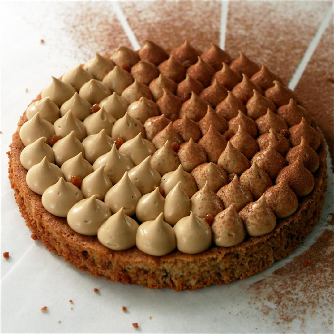 Hazelnut Cake with Coffee Chantilly