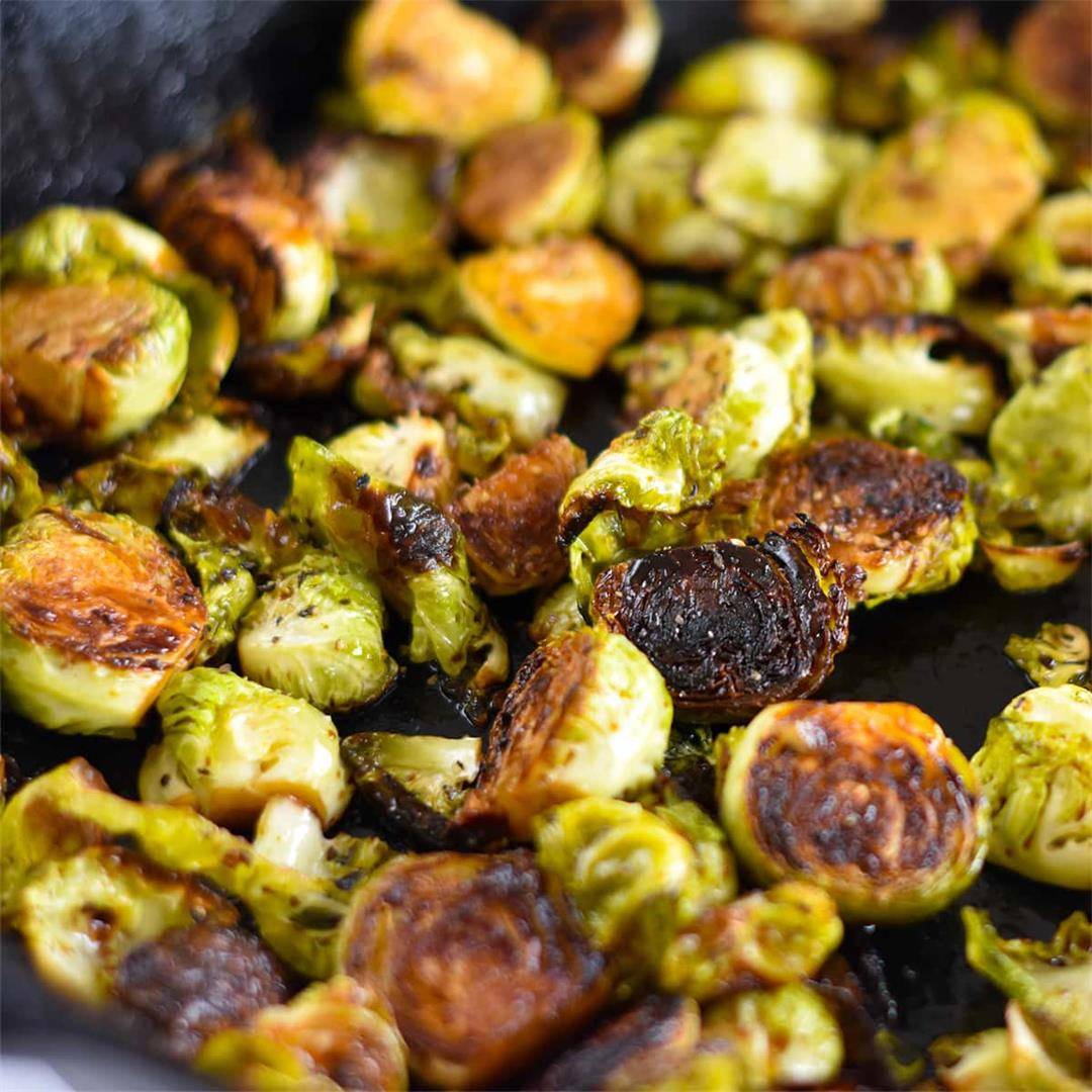 Maple Balsamic Brussels Sprouts — Foodborne Wellness
