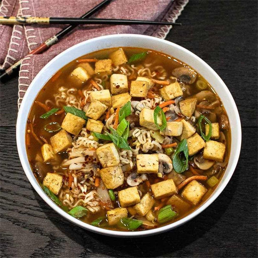 Hot and Sour Ramen Soup