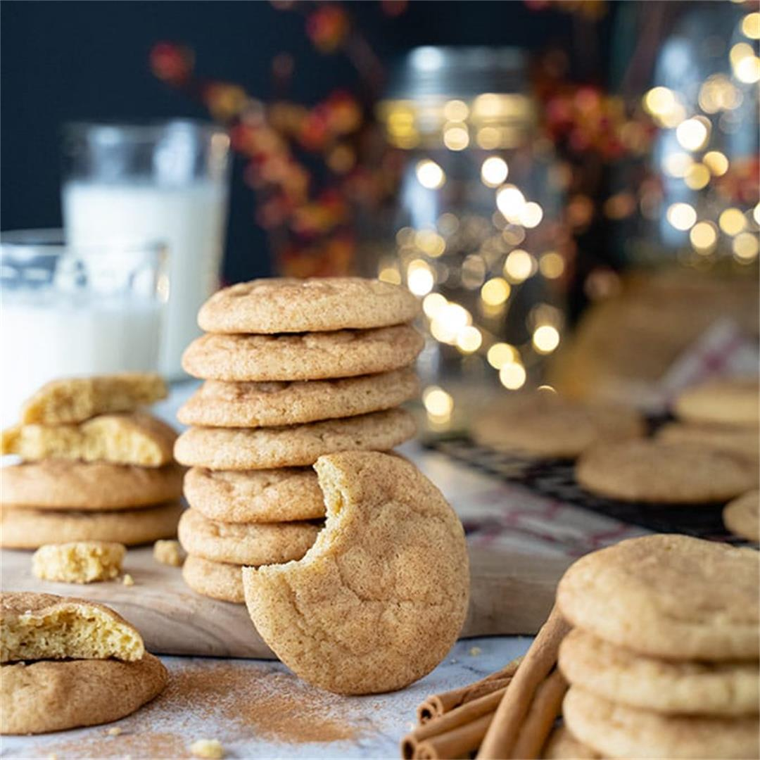 The most amazing snickerdoodle cookies
