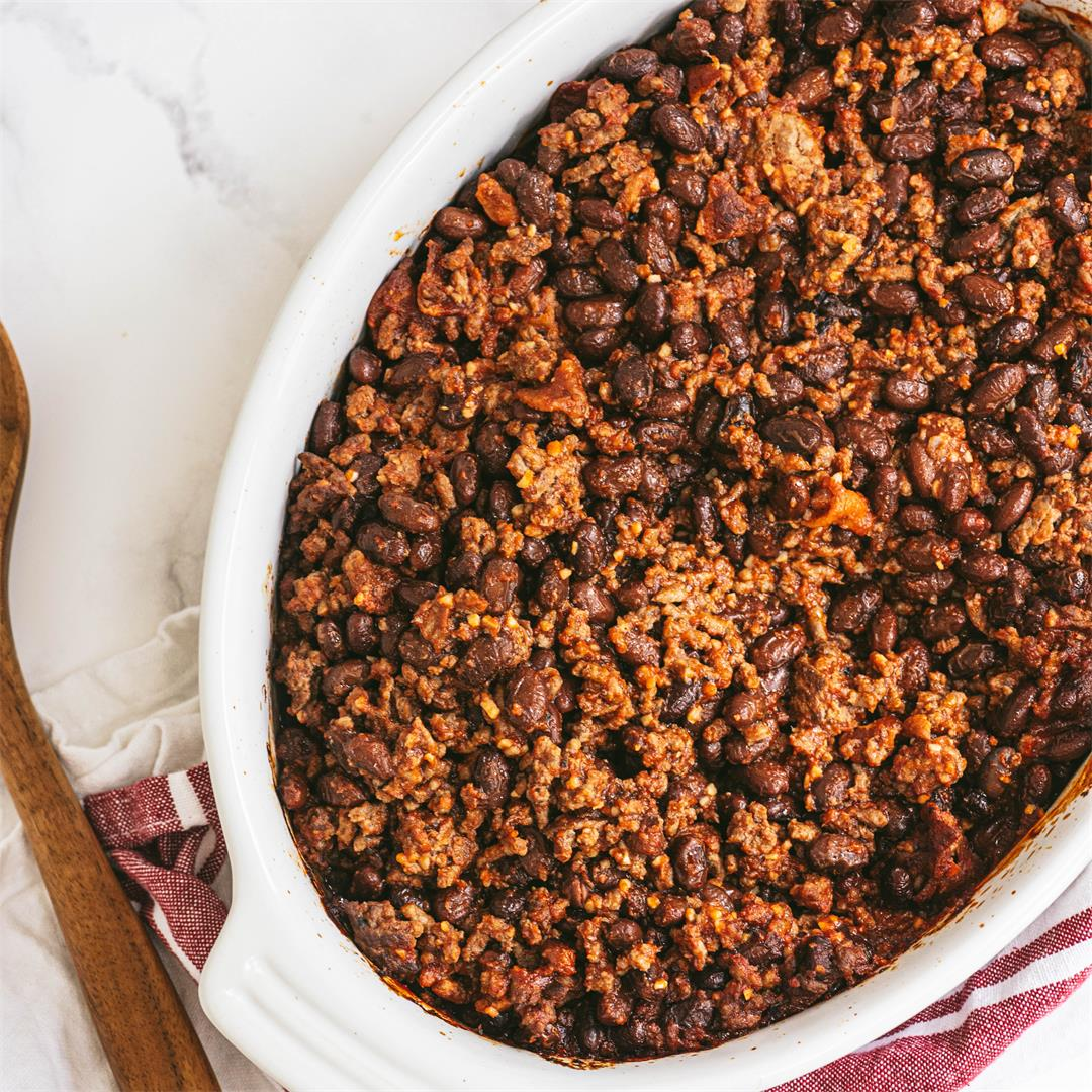 Low Carb Baked Beans with Beef