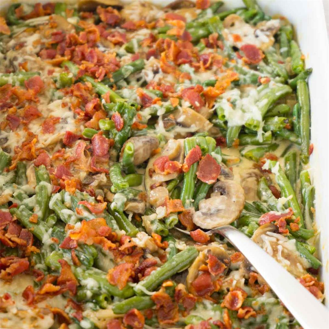 Healthy keto green bean casserole recipe