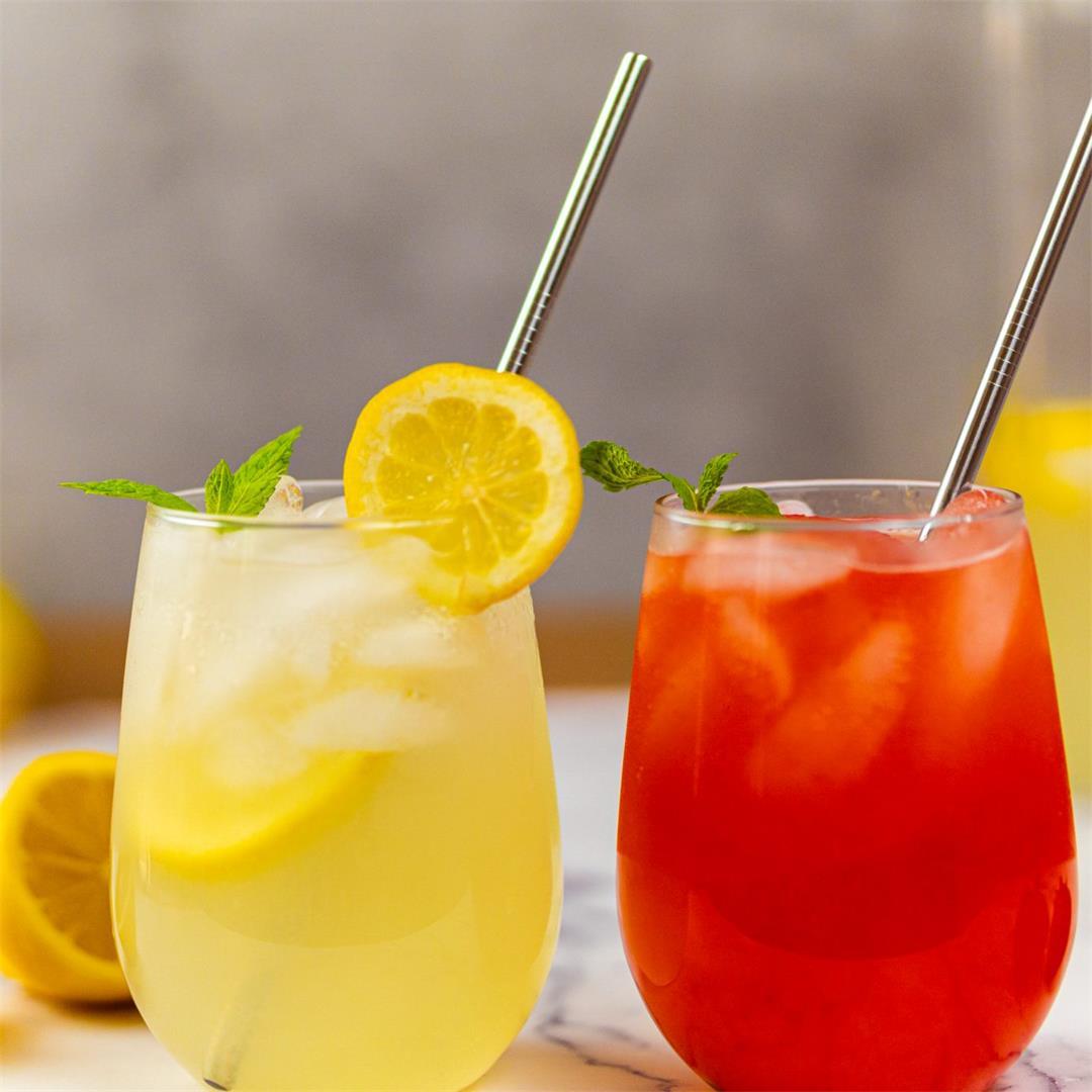 Refreshing Summer Drinks : Classic and Strawberry Lemonade