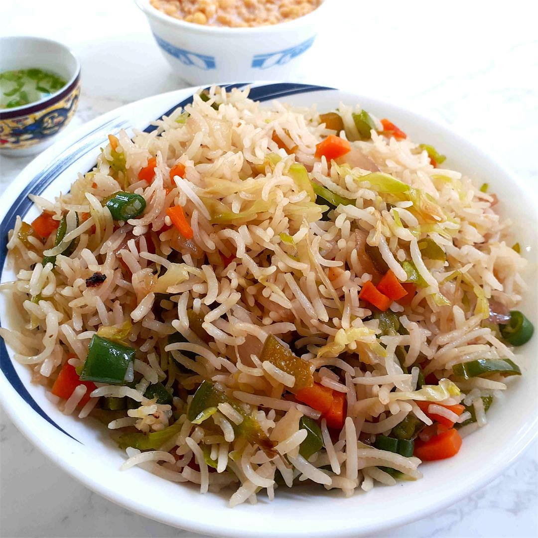 Quick 10-minute Vegetable Fried Rice Recipe