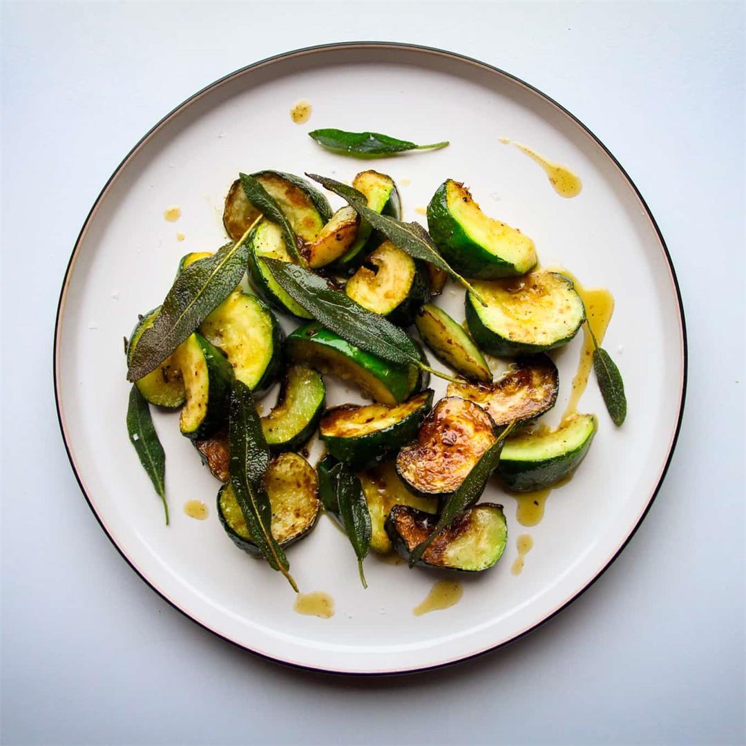 Zucchini with Sage, Garlic and Lemon