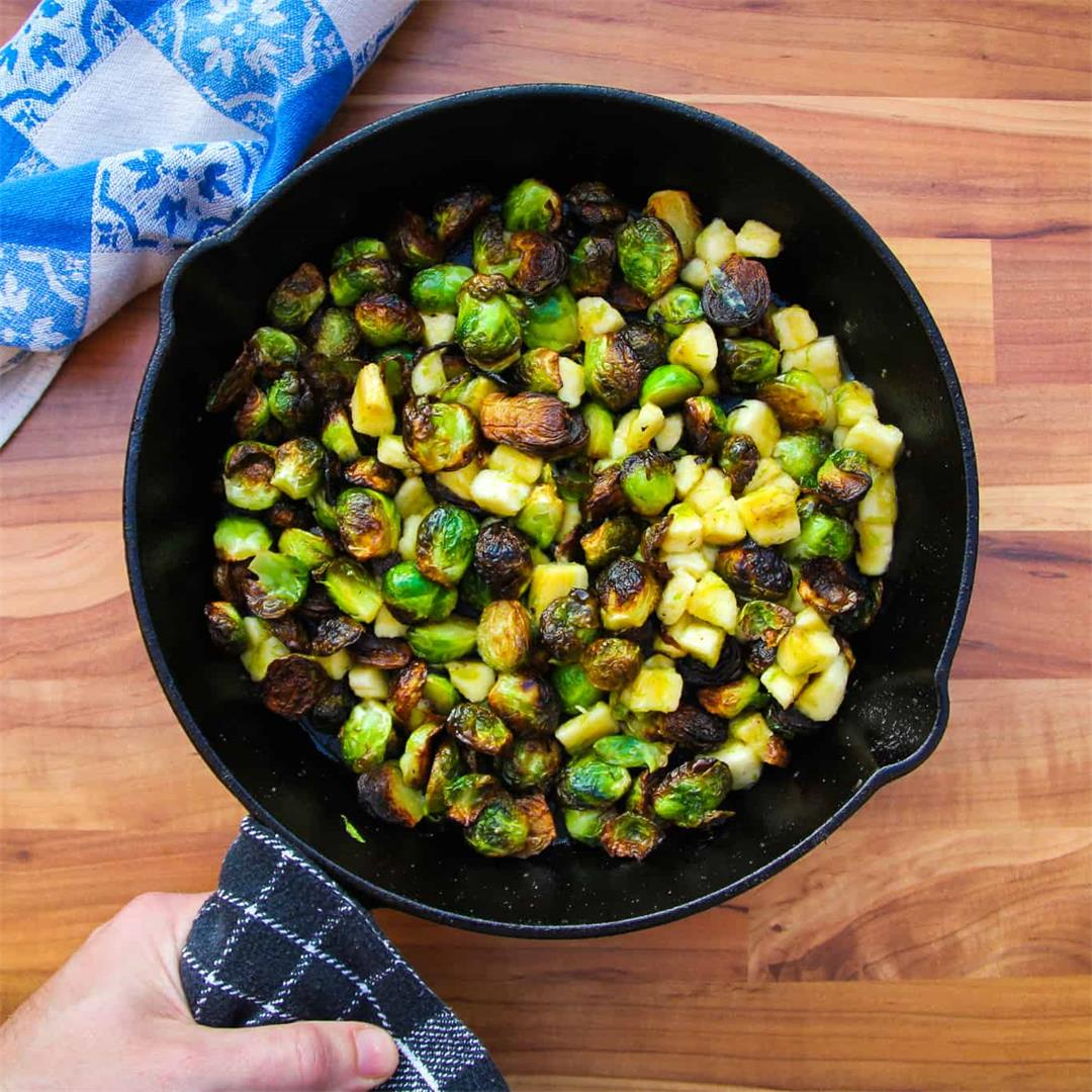 Crispy Brussel Sprouts with Banana and Lime