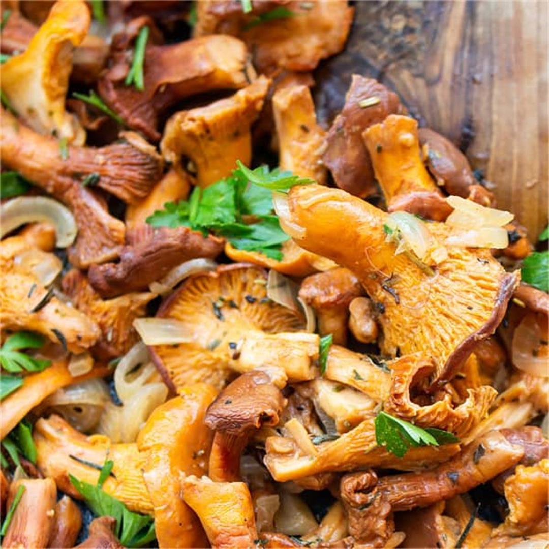 auteed Chanterelle Mushrooms