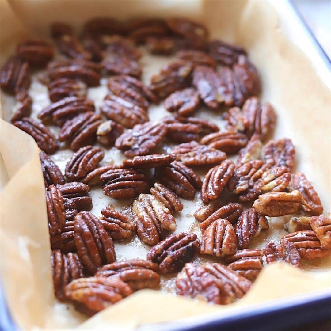 Honey Glazed Cinnamon Pecans