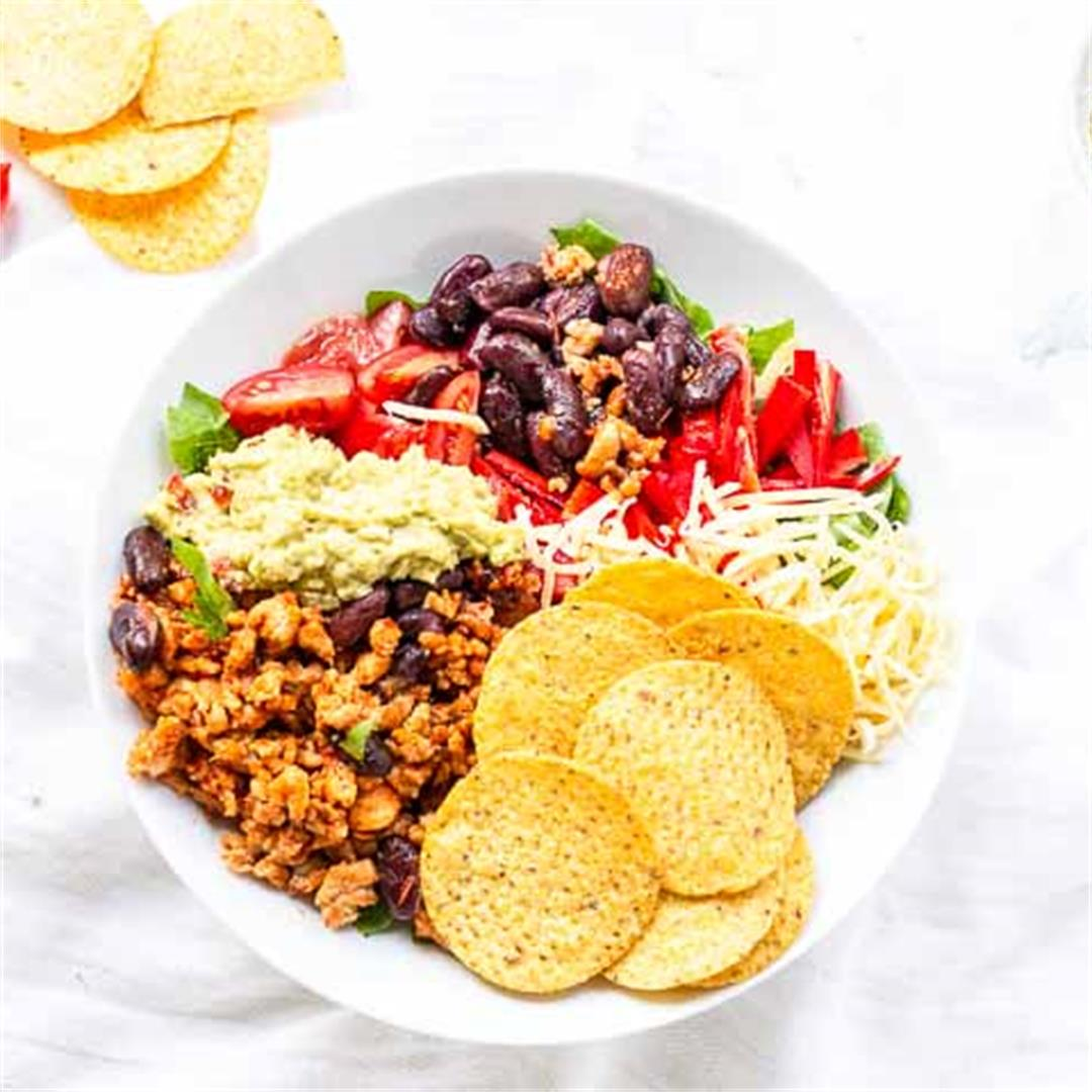 Ground Chicken Taco Salad