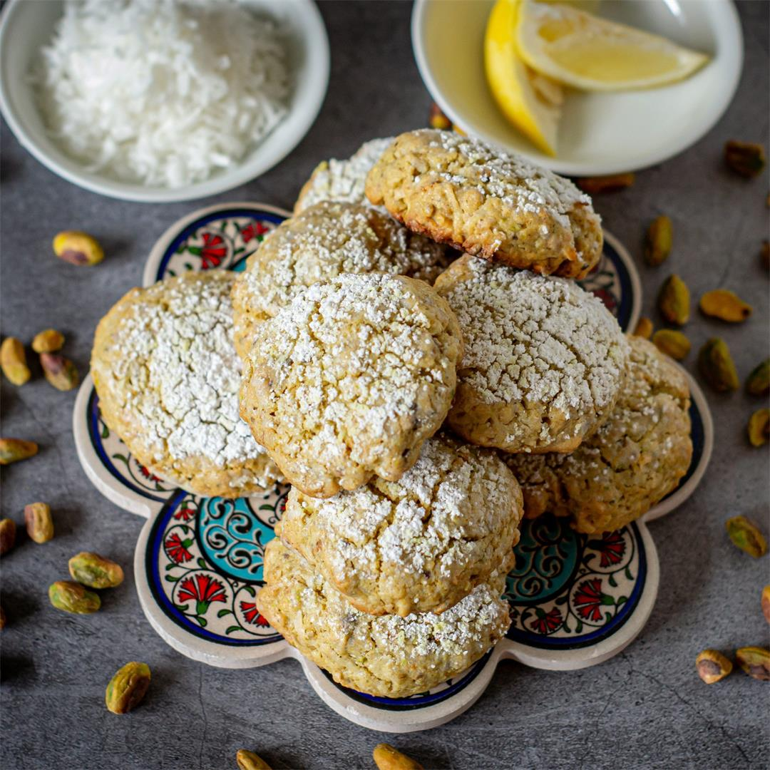 Coconut Lemon Ghriba (Moroccan Cookies)