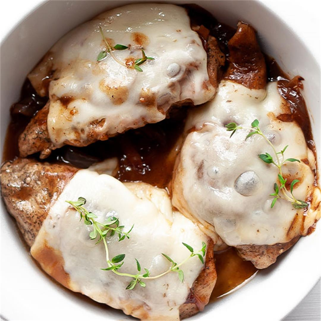 French Onion Chicken - Best Skillet Chicken Breast! - Key To My