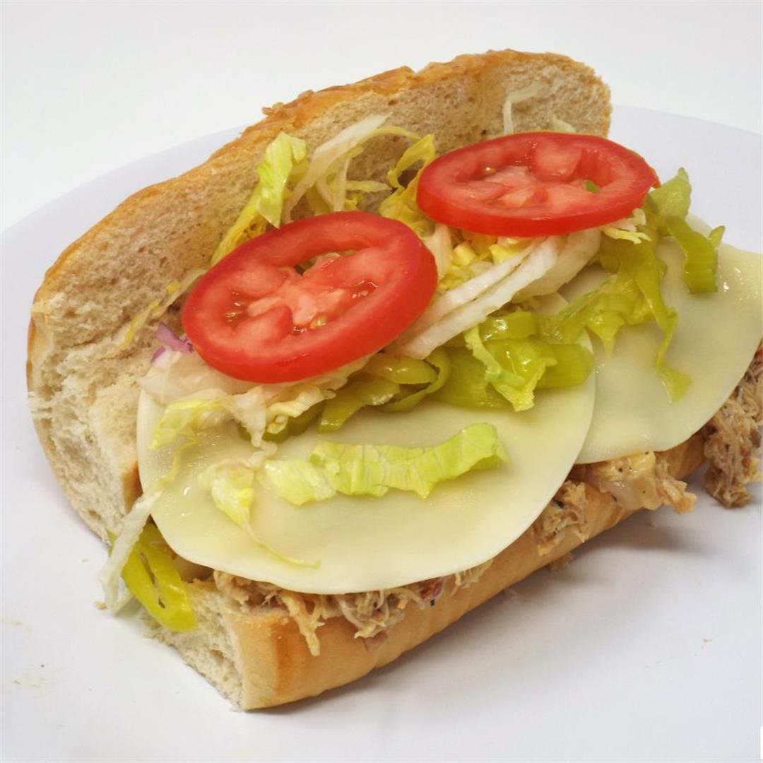 Italian Pulled Chicken Sandwiches
