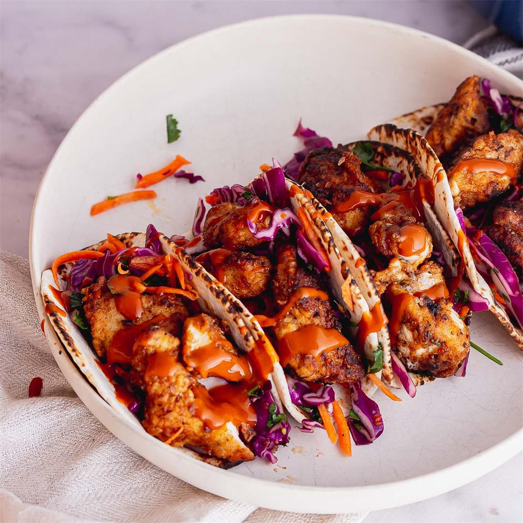 Crispy Turkey Tacos with Crunchy Slaw
