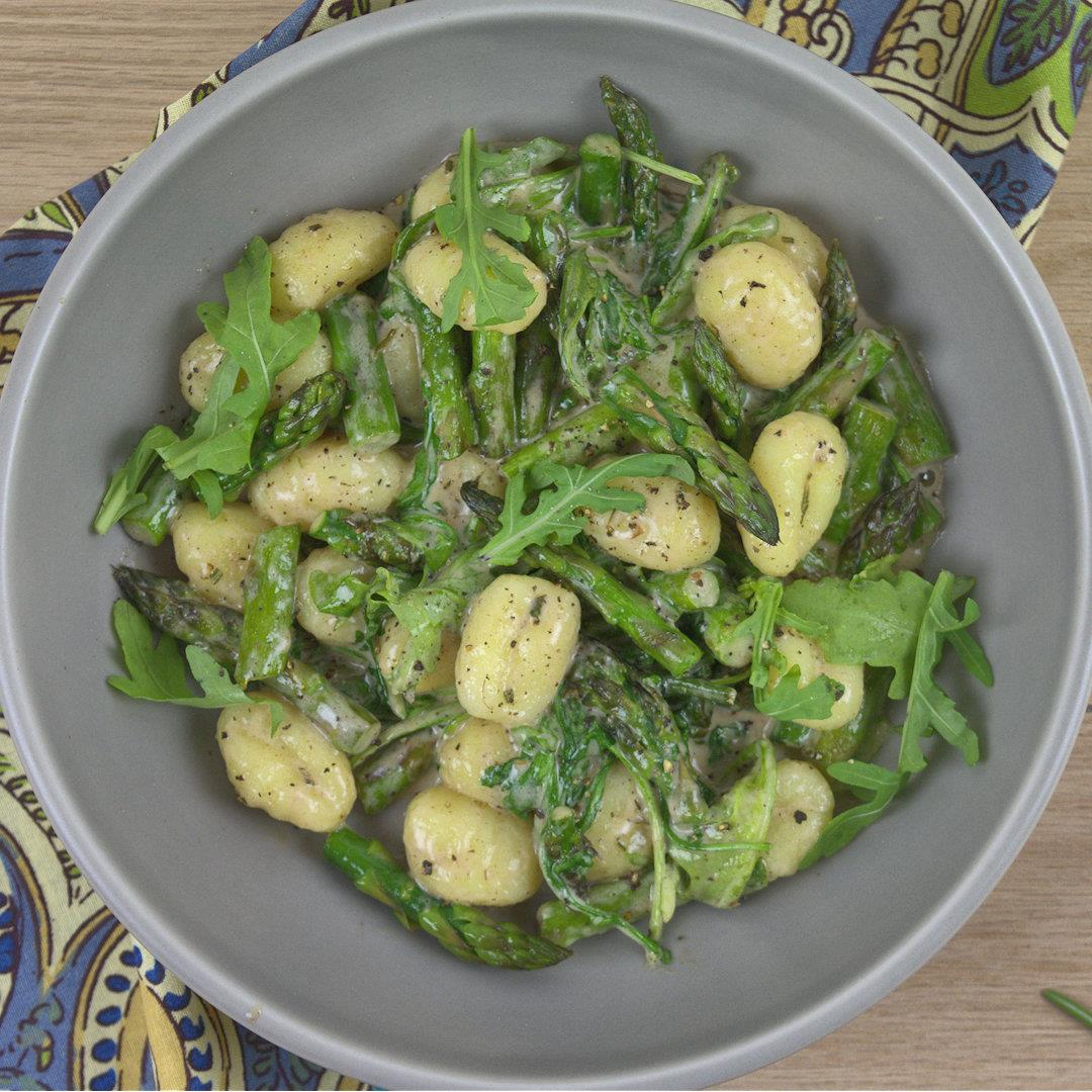 Gnocchi with Asparagus and Arugula – A Gourmet Food Blog