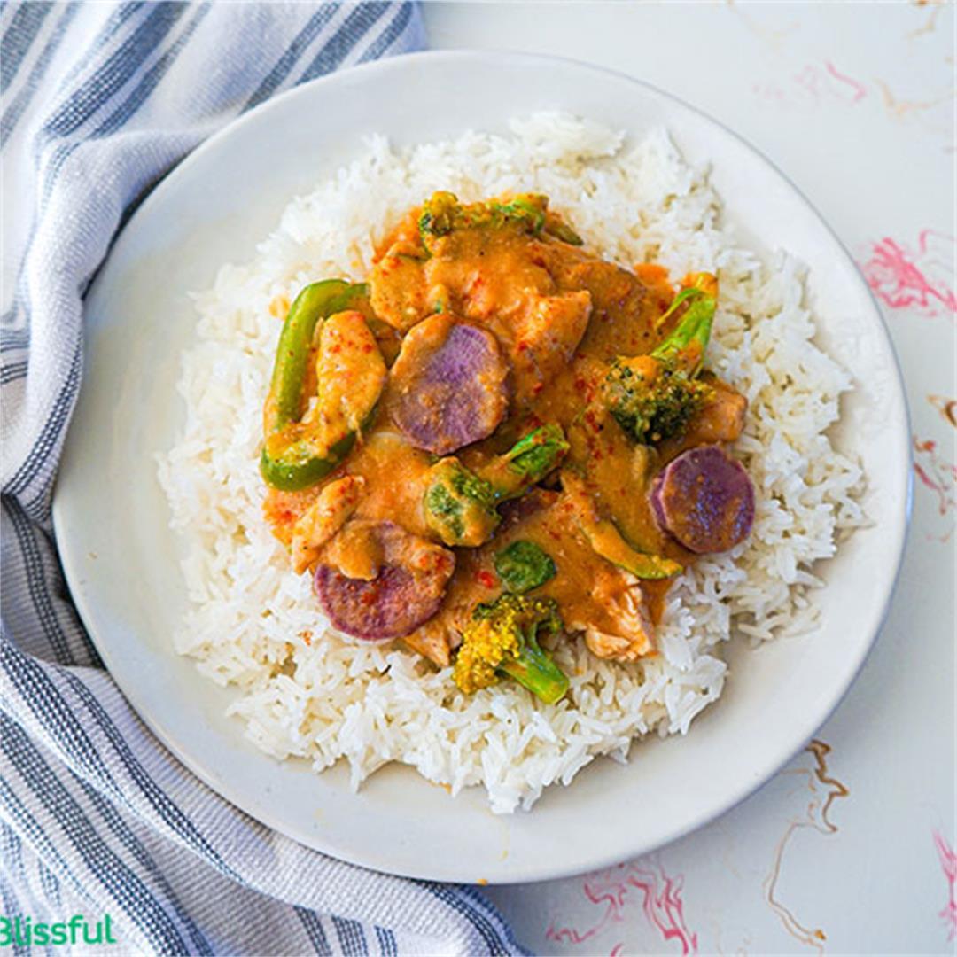 Creamy Sweet Potato Coconut Chicken Curry