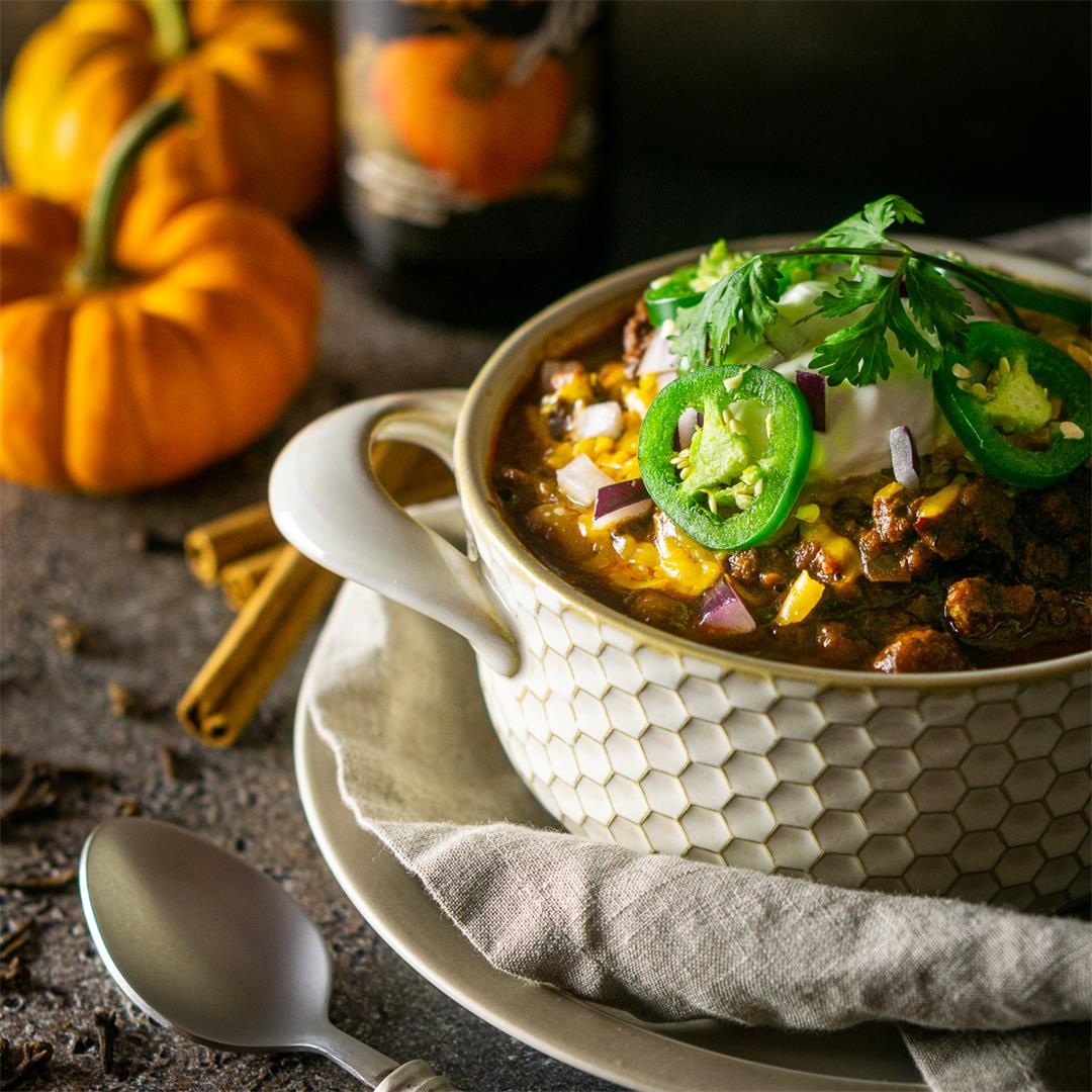 Pumpkin and Chorizo Chili