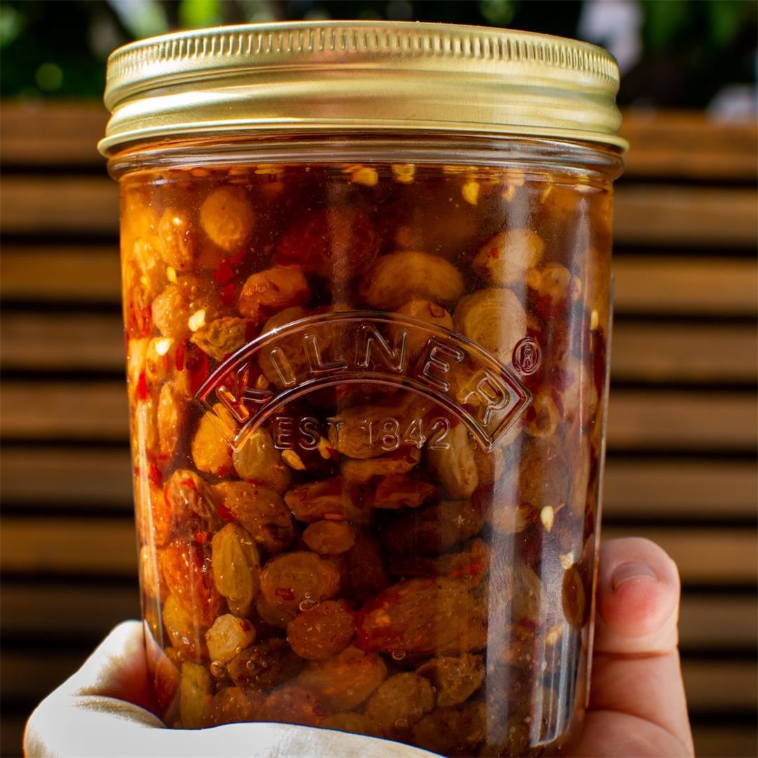 Quick Pickled Raisins