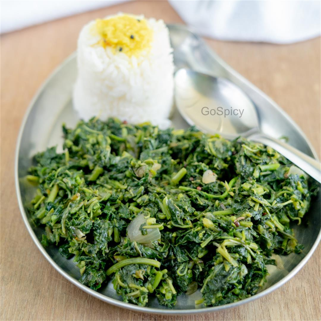 South Indian Spinach Stir Fry