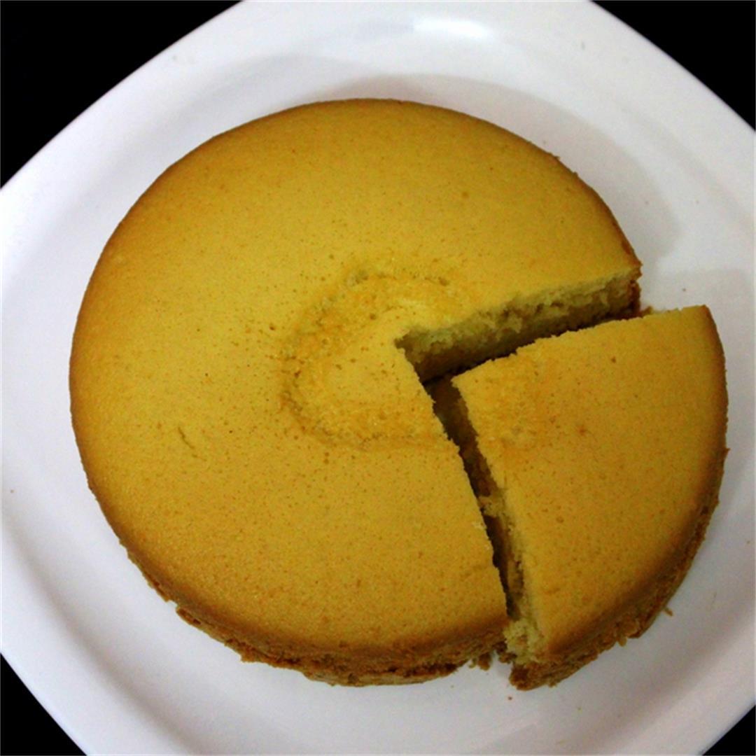 pressure cooker cake recipe, basic plain vanilla sponge cake