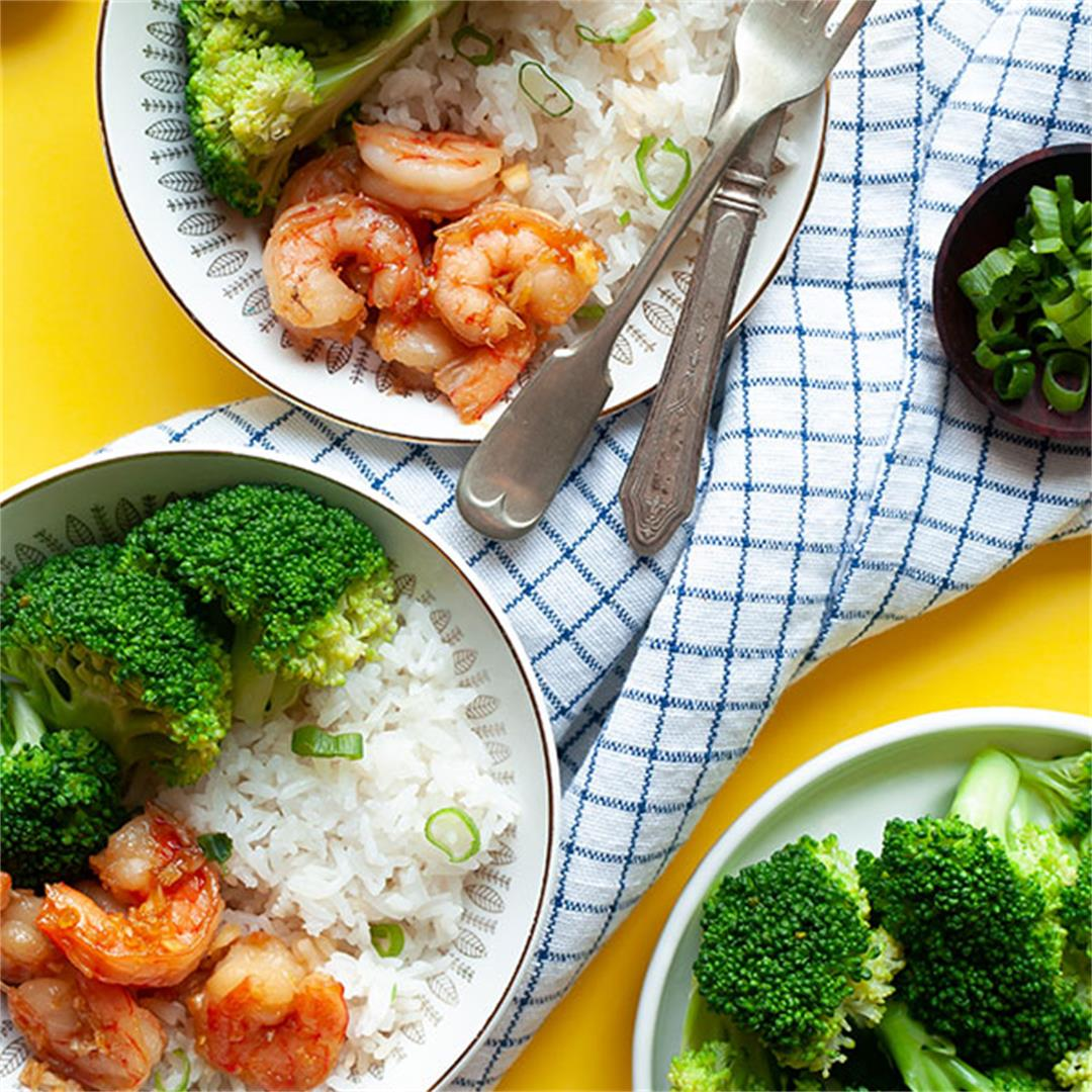 Honey Garlic Shrimp: BEST 20 Minute Dinner! - Key To My Lime