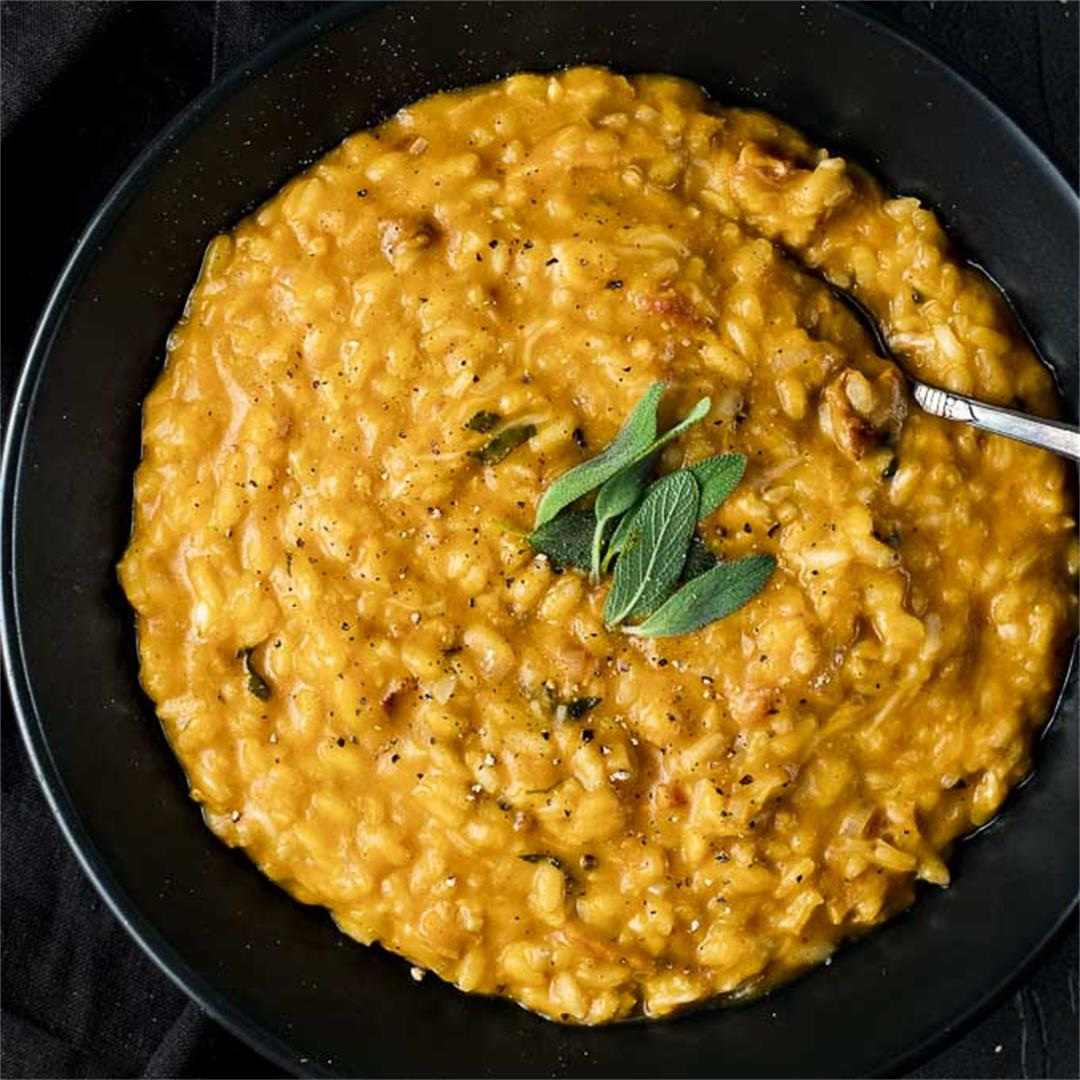 Rich & Creamy Pumpkin Risotto