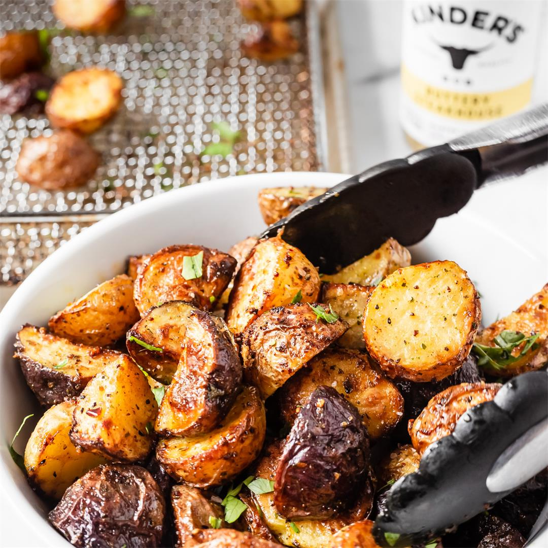 Air Fried Buttery Steakhouse Potatoes