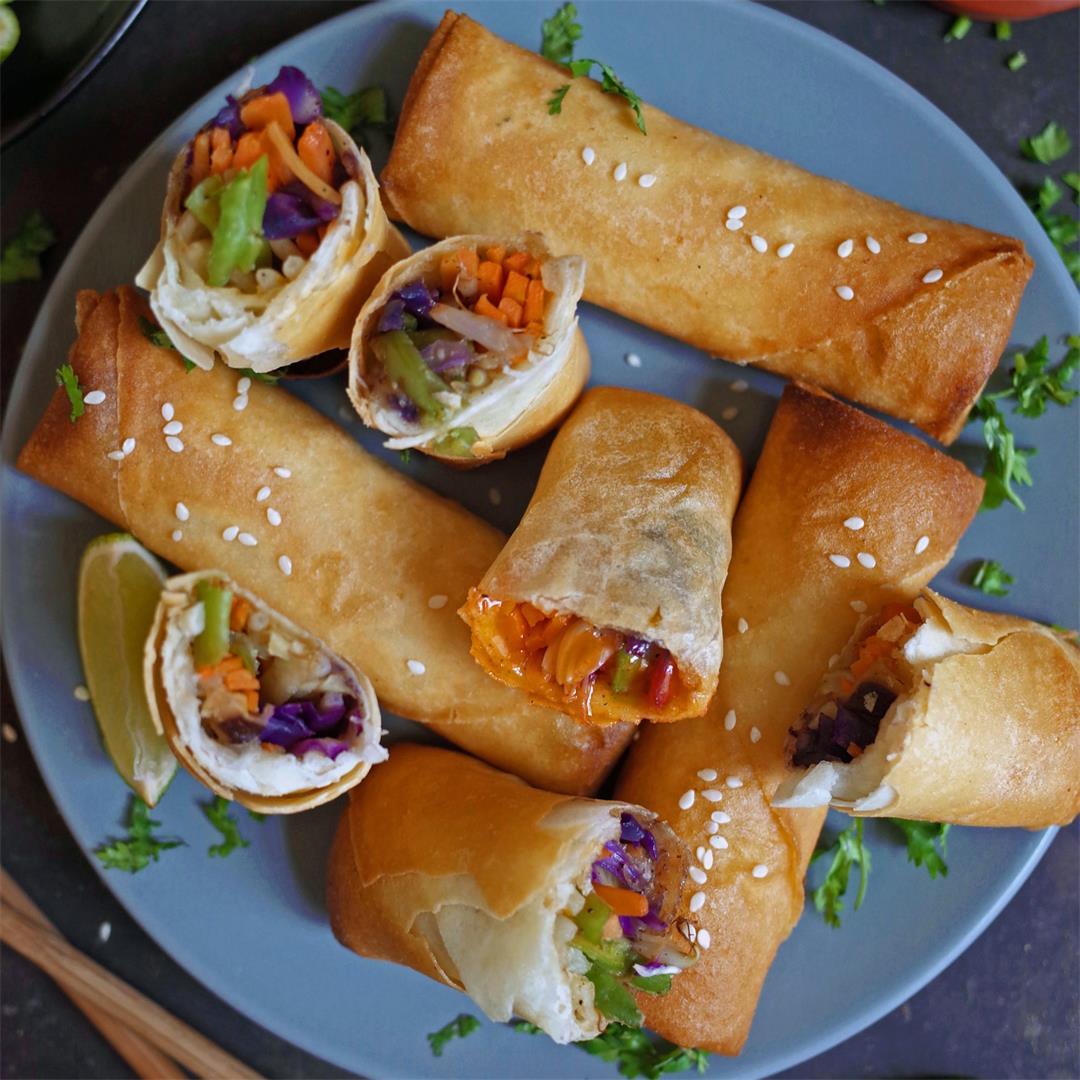 Delicious, Easy & Vegan Vegetable Spring Rolls
