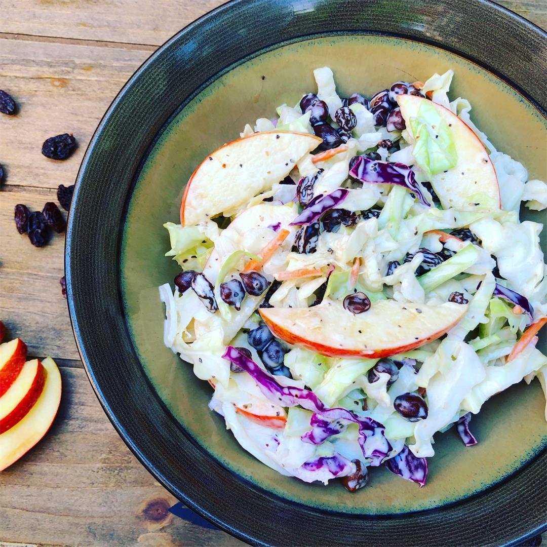 Creamy Fruit & Chickpea Coleslaw