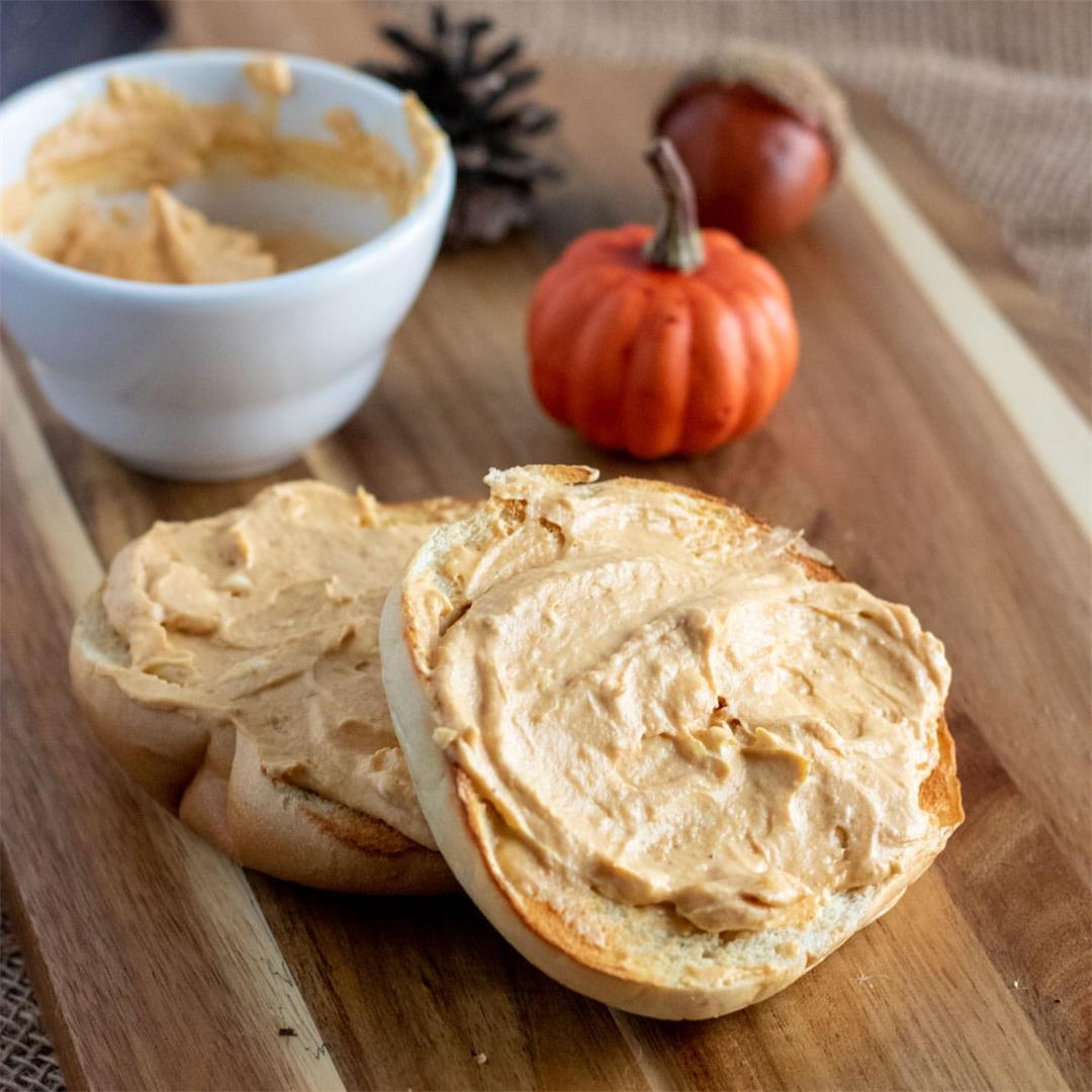 Pumpkin Cream Cheese Spread (Schmear)