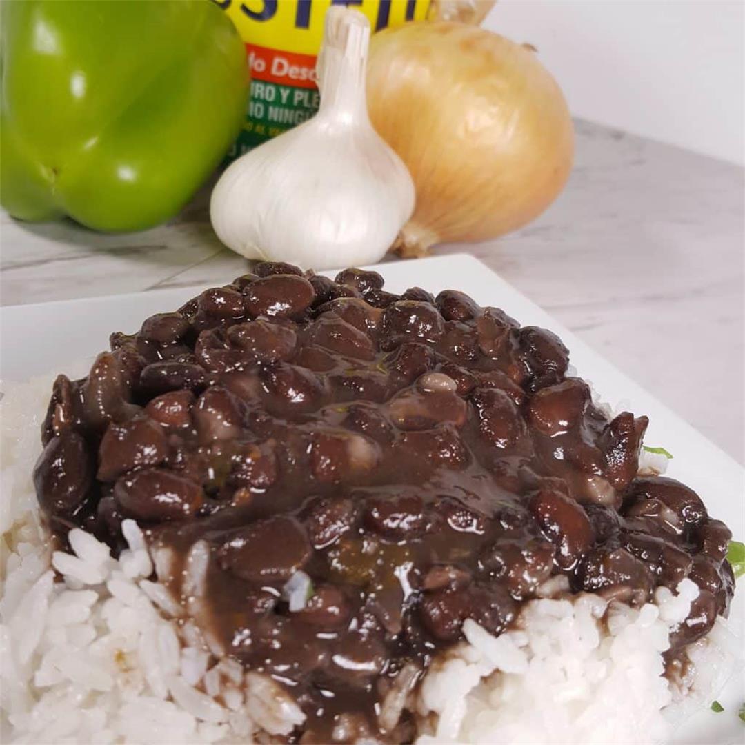 Authentic Pressure Cooker Cuban Black BeansFrijoles Negros