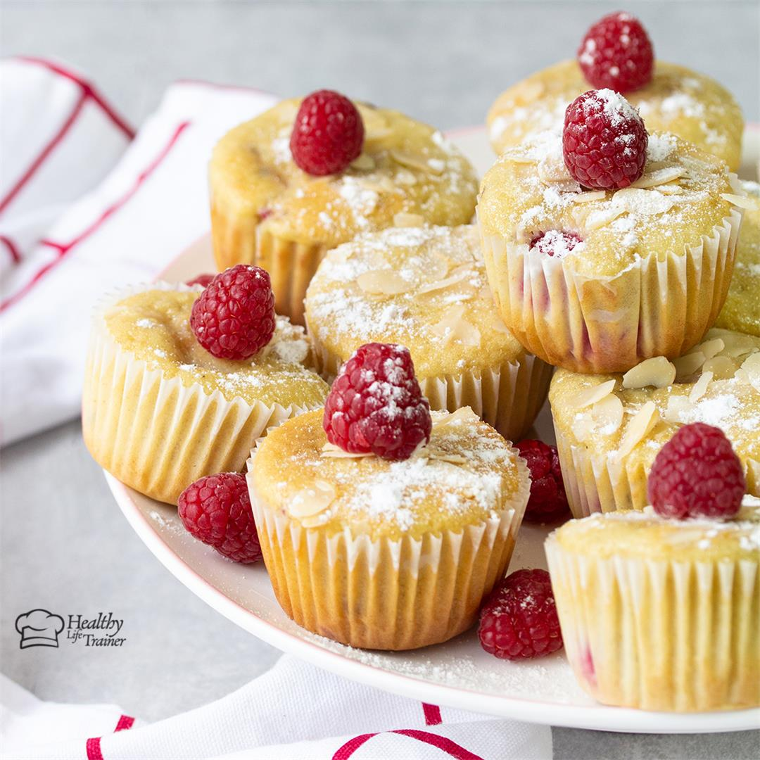 Easy Homemade Raspberry Muffins-Healthy Life Trainer