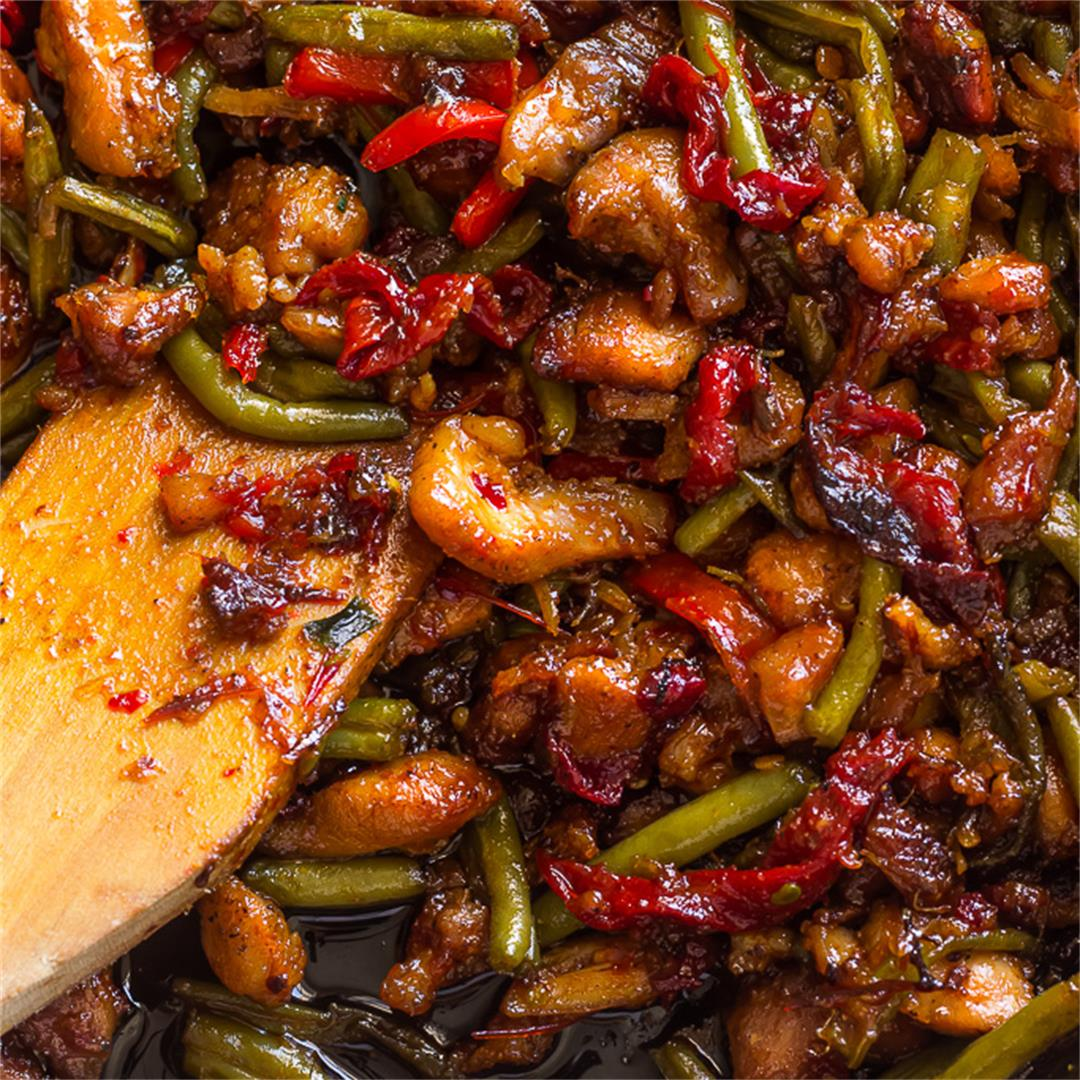 Garlicky Sweet Thai Chili Chicken and Green Beans Stir Fry