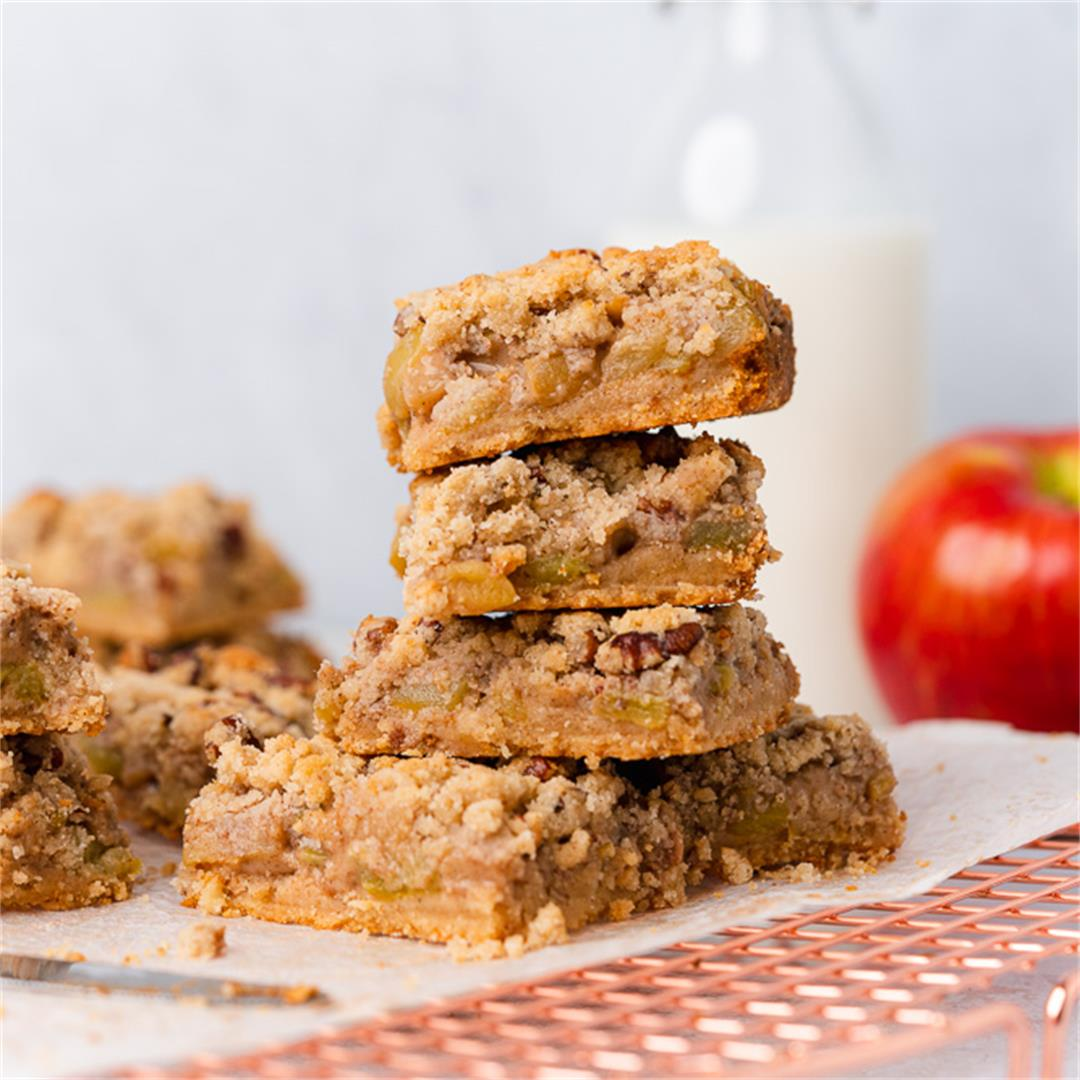 Healthy Apple Crumble Bars with Pecans