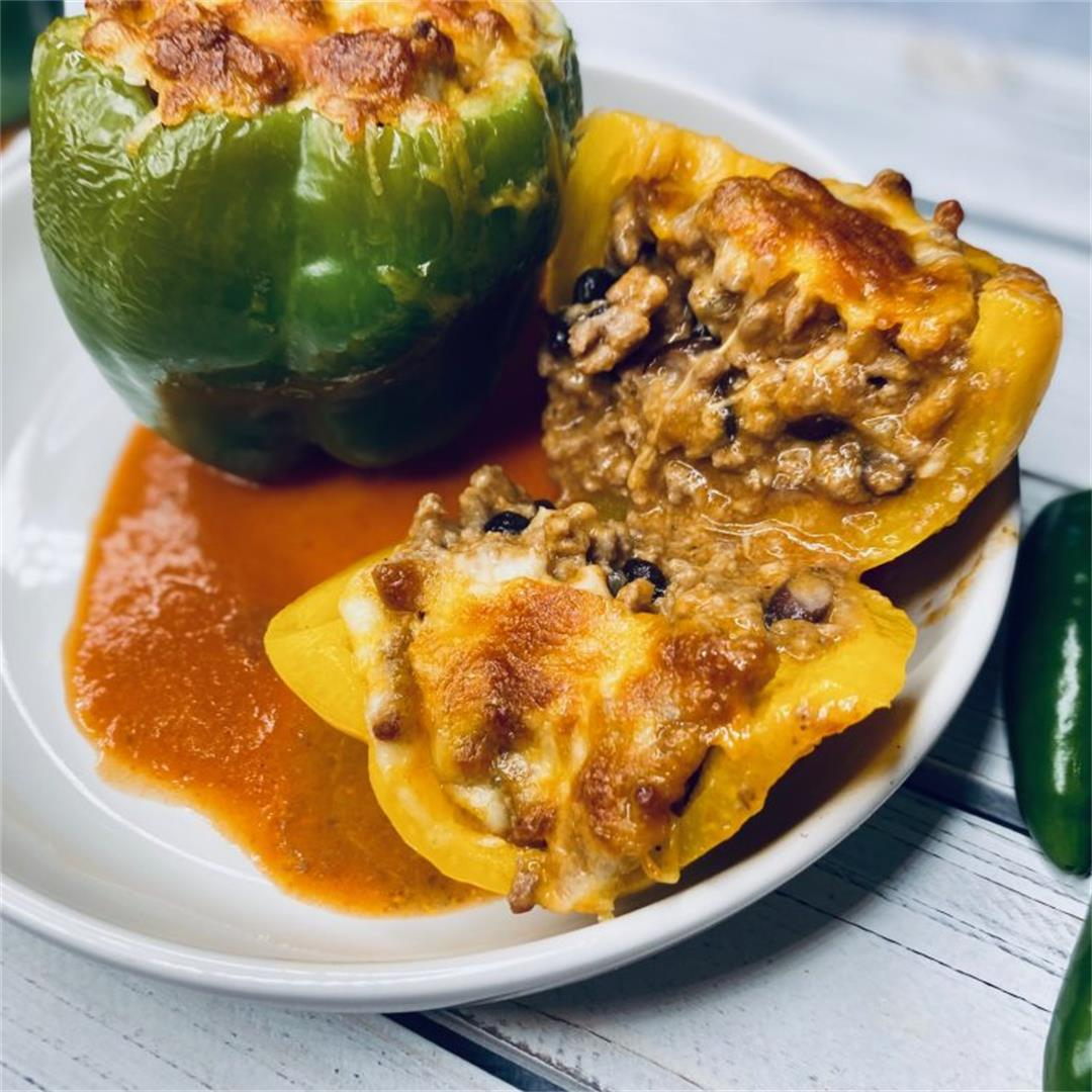 Lightened Up Enchilada Stuffed Peppers