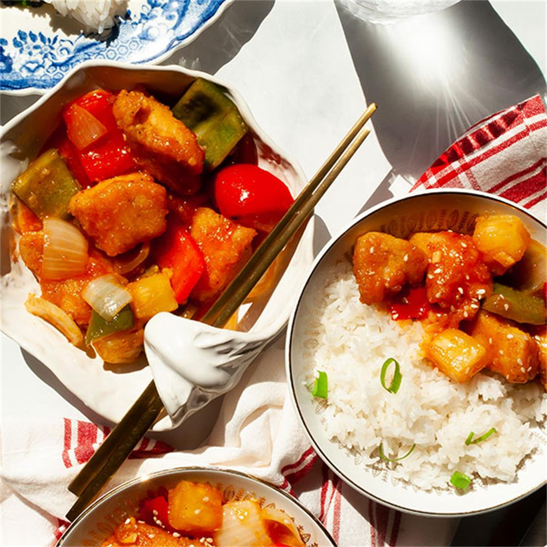 Sweet and Sour Chicken Recipe (with VIDEO!) - Key To My Lime