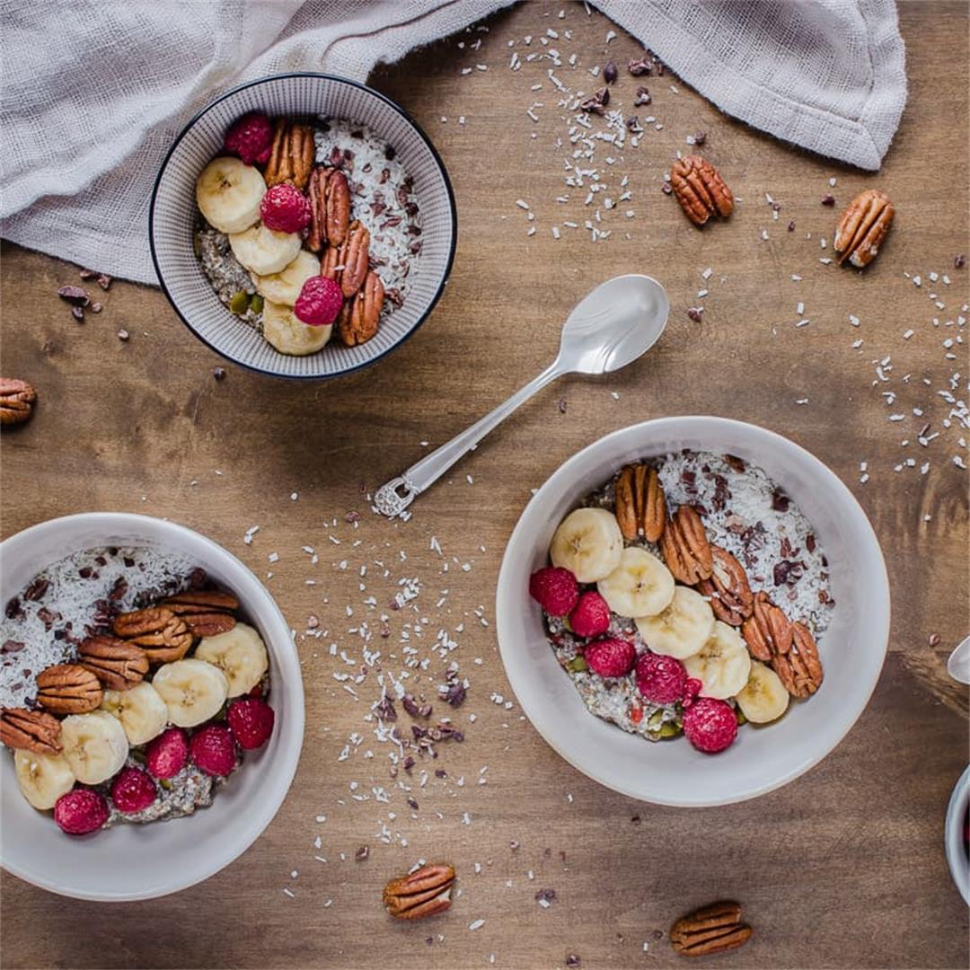 Chocolatey Pecan Chia Cereal (vegan + gluten-free) -