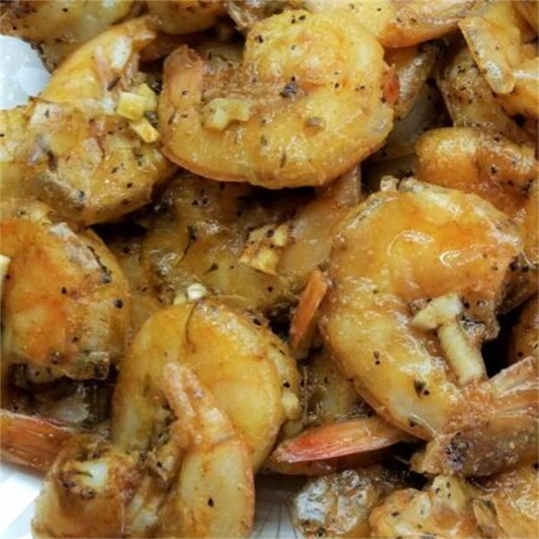 Easy Mediterranean Baked Shrimp