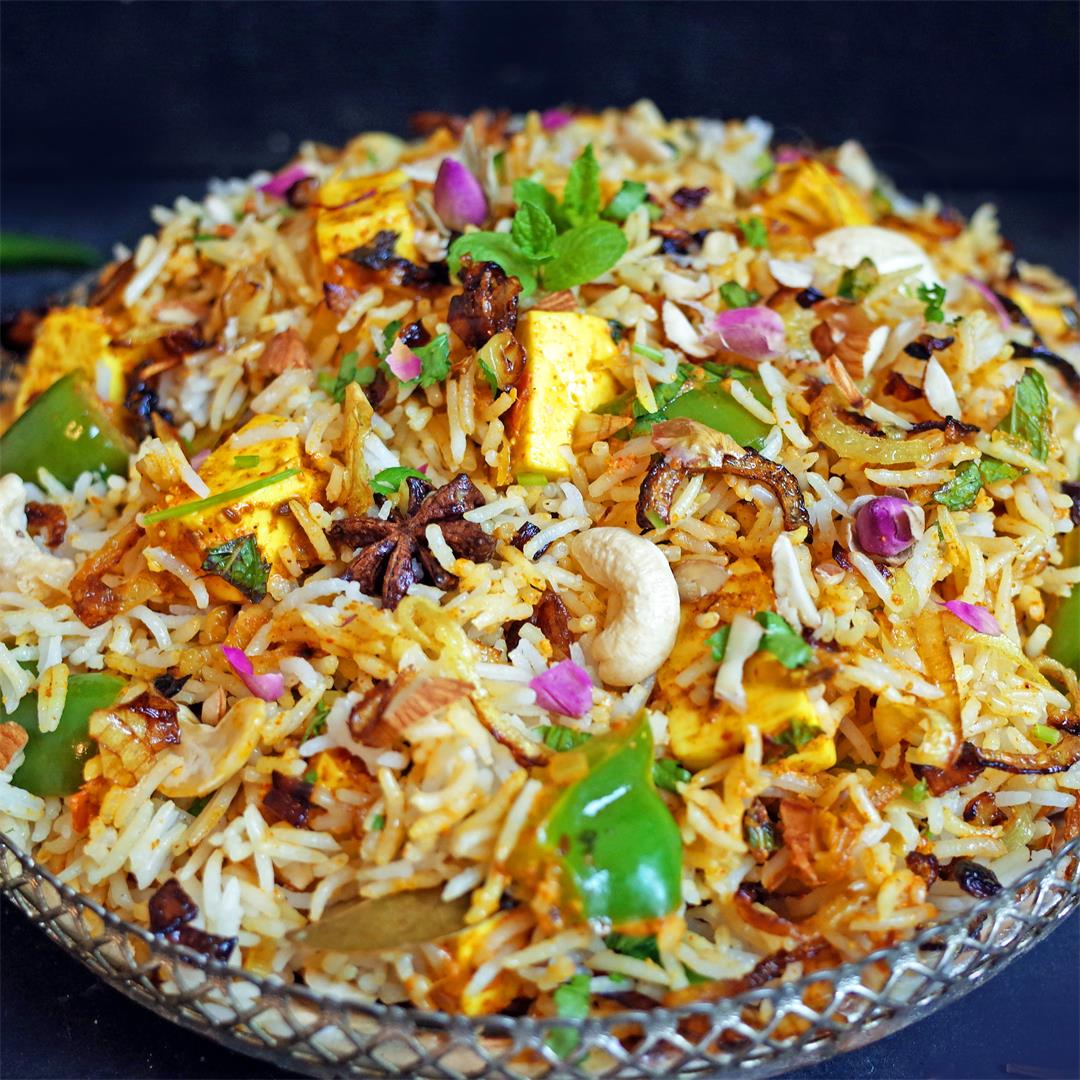 Paneer Biryani - Indian Fragrant Layered Rice